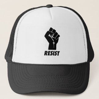 resist fist trucker hat