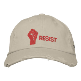 Resist Hat Embroidered Cap