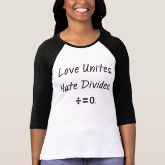 Resist Hate Unity Quote Baseball T-Shirt