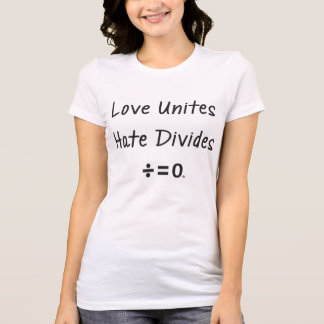 Resist Hate Unity Quote (Light) T-Shirt