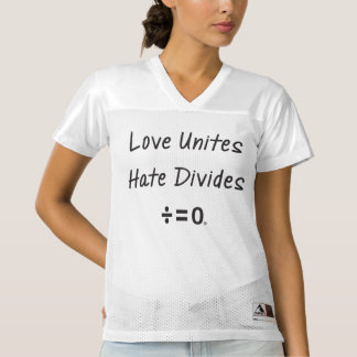 Resist Hate Unity Quote (Light) Women's Football Jersey