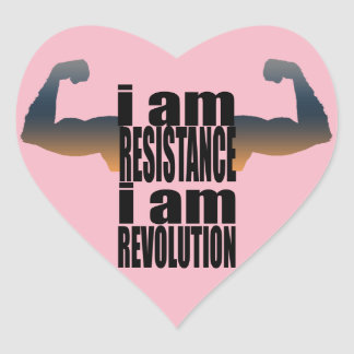 resist heart sticker