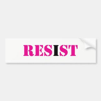 RESIST; I Resist-Resistance Movement Bumper Sticker