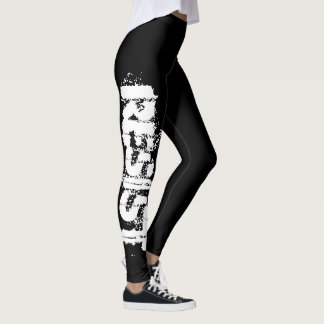 Resist Leggings - The Resistance Black and White