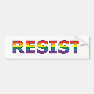 RESIST - LGBT BUMPER STICKER