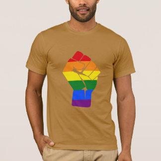 #Resist LGBT Rainbow Raised Fist Protest T-Shirt