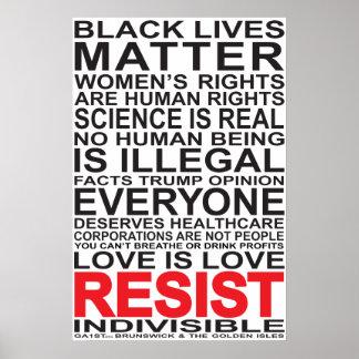 Resist List Poster