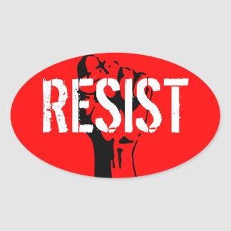 Resist Oval Sticker