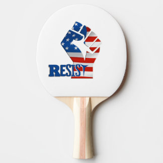 Resist Ping Pong Paddle, Red Rubber Back Ping Pong Paddle