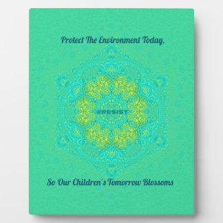 #Resist Protect Environment Anti-Trump Mandala Plaque