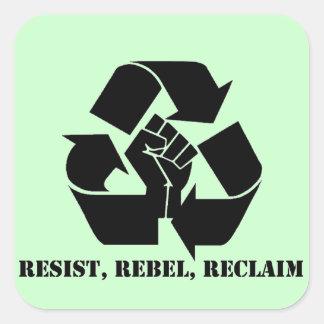 Resist, Rebel, Reclaim Square Sticker