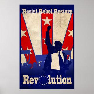 Resist Rebel Restore Revolution Poster (Large)