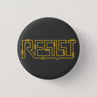 Resist Resistance Electronic Diagram 3 Cm Round Badge