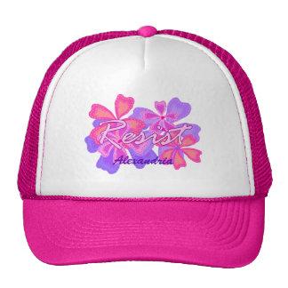 Resist | Resistance Pink Floral Optional Name Cap