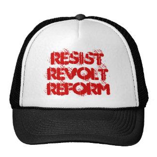 Resist Revolt Reform Trucker Hats