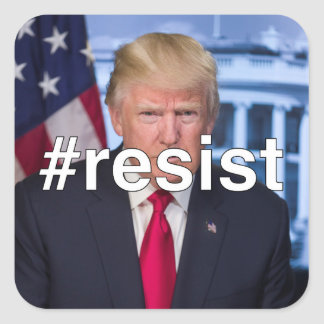 #resist square sticker