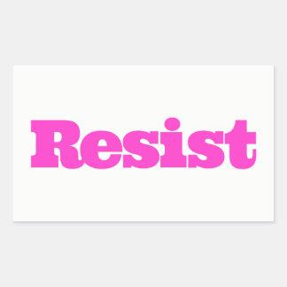 RESIST Sticker - hot pink