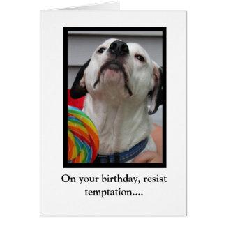 Resist Temptation Card