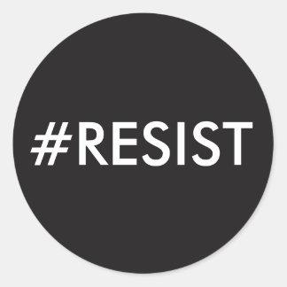 RESIST - The Anti-Trump Movement Round Sticker