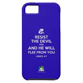 Resist the Devil (blue) - iPhone 5 case