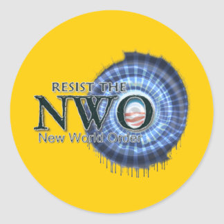 Resist the NWO Classic Round Sticker