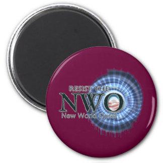 Resist the NWO Fridge Magnets