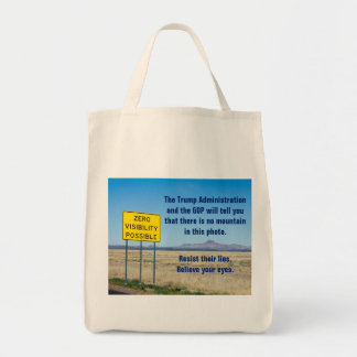 Resist Their Lies Believe Your Eyes Resistance Tote Bag