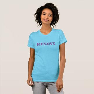 RESIST - tshirt, women's pink on  aqua T-Shirt