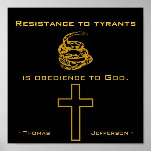 Resist Tyrants, Christian Poster