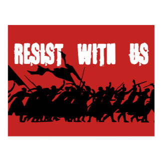 Resist With Us Postcard