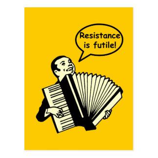 Resistance is futile! (Accordion) Postcard