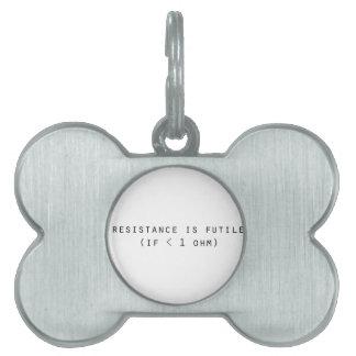 Resistance is futile pet name tag