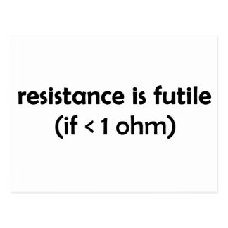 resistance is futile postcard