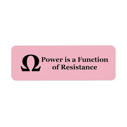 Resistance → Power Labels