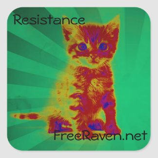 Resistance Sticker. Square Sticker