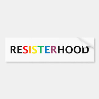 Resisterhood bumpersticker bumper sticker