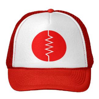 Resistor Symbol - Circled Trucker Hats
