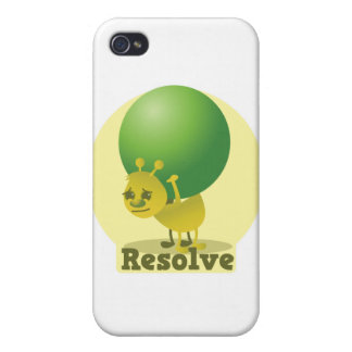 Resolve determind ant motivated with pea iPhone 4 case
