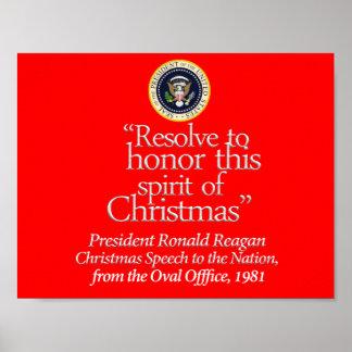 """Resolve to Honor..."" Reagan Poster (rsd-u26)"