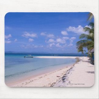 Resort on the beach mouse mat
