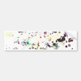 RESOURCES - MULTI-COLOURED SPLATTERED INK BUMPER STICKER