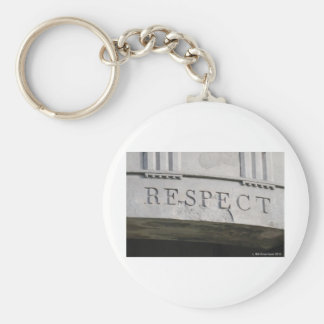 RESPECT BASIC ROUND BUTTON KEY RING