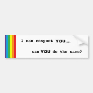 Respect Bumper Sticker