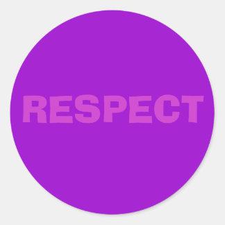 RESPECT CLASSIC ROUND STICKER