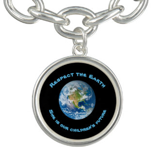Respect Future of Planet Earth Charm Bracelet