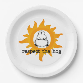 Respect Groundhog Day Party Paper Plate 9 Inch Paper Plate
