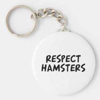 Respect Hamsters Basic Round Button Key Ring