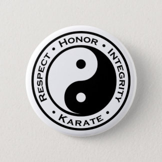 Respect Honor Integrity Karate 6 Cm Round Badge