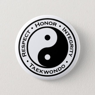 Respect Honor Integrity Taekwondo 6 Cm Round Badge