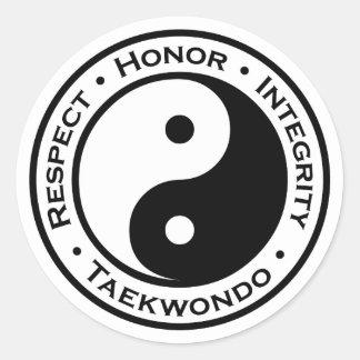 Respect Honor Integrity Taekwondo Classic Round Sticker